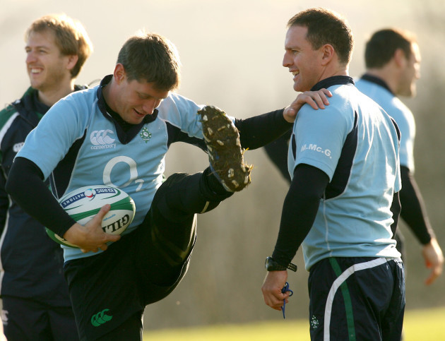 Ronan O'Gara and Mike McGurn