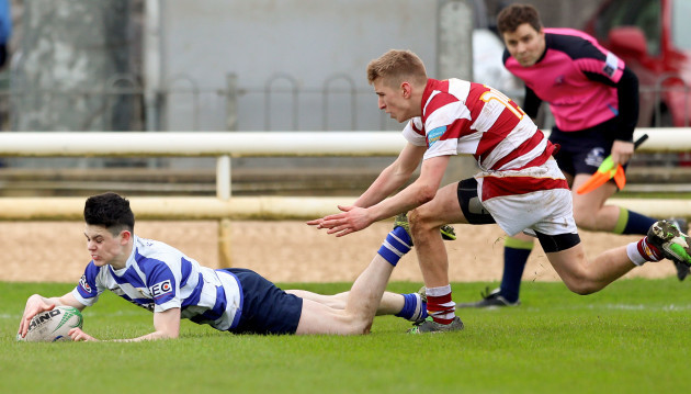 Niall Collins scores the wining try