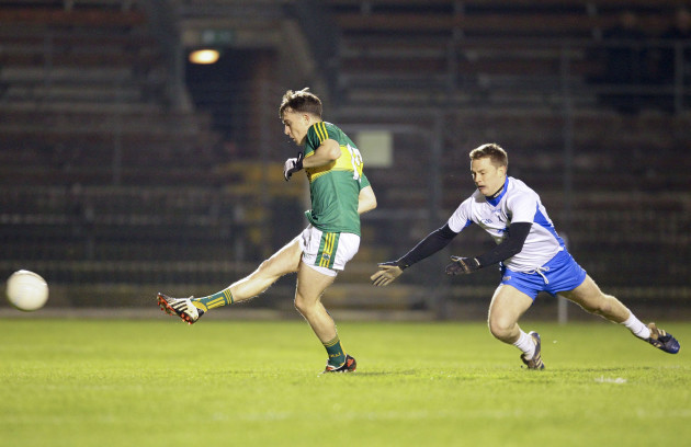 Cathal Bambury shoots on goal