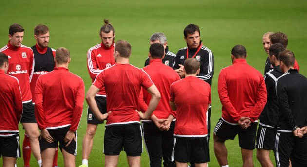 Soccer - UEFA Euro 2016 - Qualifying - Group B - Wales v Israel - Wales Training Session - Cardiff City Stadium