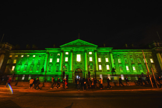 Ireland: Dublin Goes Green for St Patrick's Day