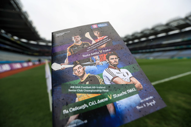 A view of the match programme ahead of the game