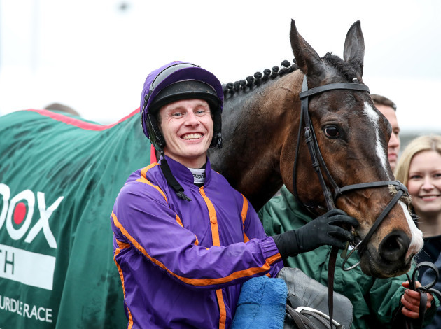 Paul Townend celebrates winning with Arctic Fire