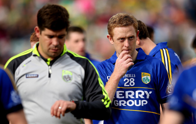 Eamonn Fitzmaurice and Colm Cooper before the game