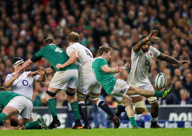 Kieran Marmion clears the ball