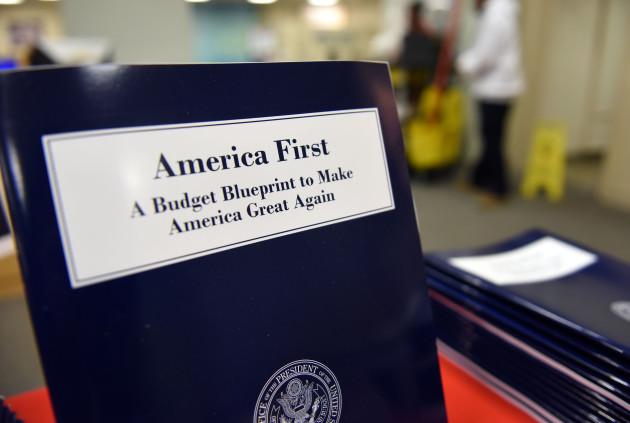 U.S.-WASHINGTON D.C.-TRUMP-FIRST BUDGET BLUEPRINT