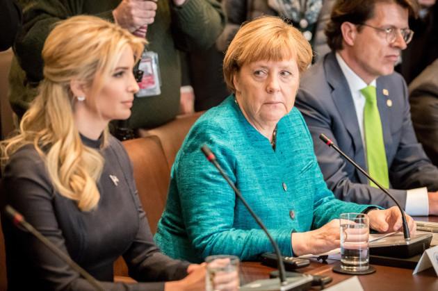 Merkel meets with Trump