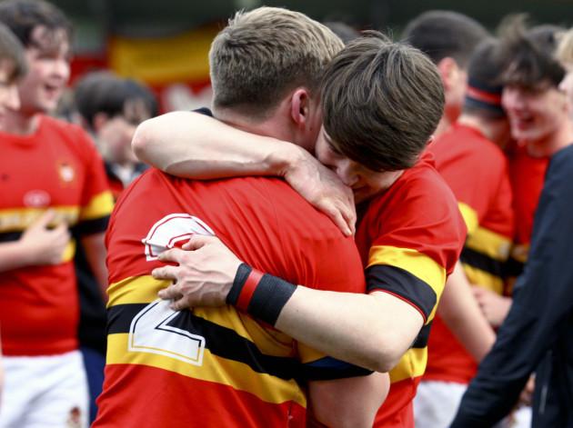 Sean Rall and Aaron Leahy celebrate winning