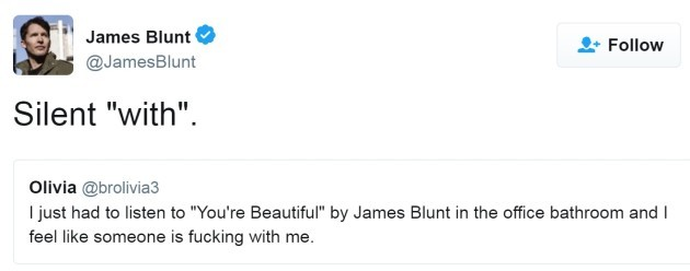 A Complete Collection Of James Blunts Best Comebacks On Twitter