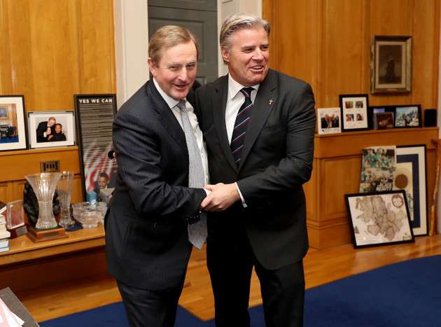 Enda Kenny and Brett Gosper