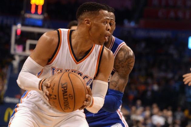 NBA: Philadelphia 76ers at Oklahoma City Thunder