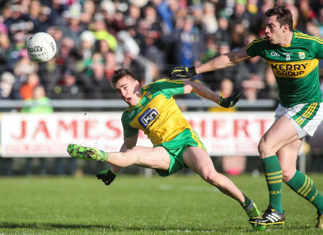 Martin O'Reilly fouled by David Moran