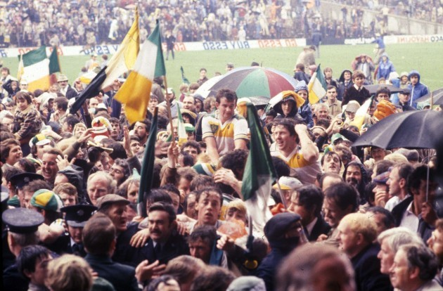 The Offaly team and fans celebrate 1982