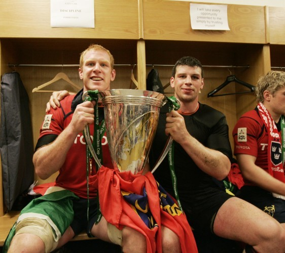 Paul O'Connell and Denis Leamy