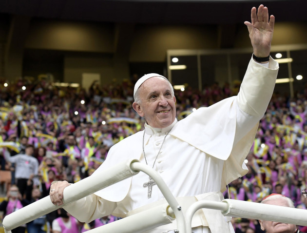 Pope Francis one day visit in Milan- Italy