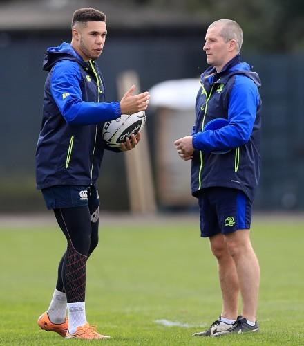 Adam Byrne with Stuart Lancaster