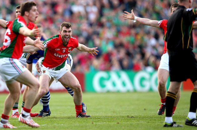 Seamus O'Shea reacts as referee Cormac Reilly awards a free to Kerry