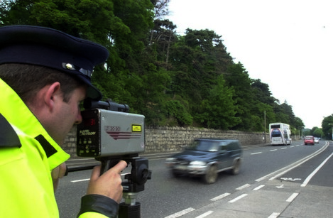 GARDAI SPEEDING CARS CAMERAS ROAD SAFETY DANGEROUS DRIVING CHECKPOINTS