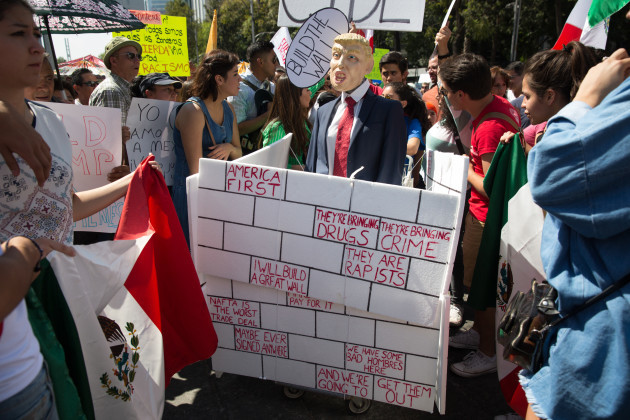 Mexico: Anti-Trump march in Mexico City
