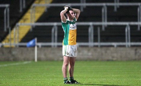 Colm Doyle stands dejected after defeat to Dublin