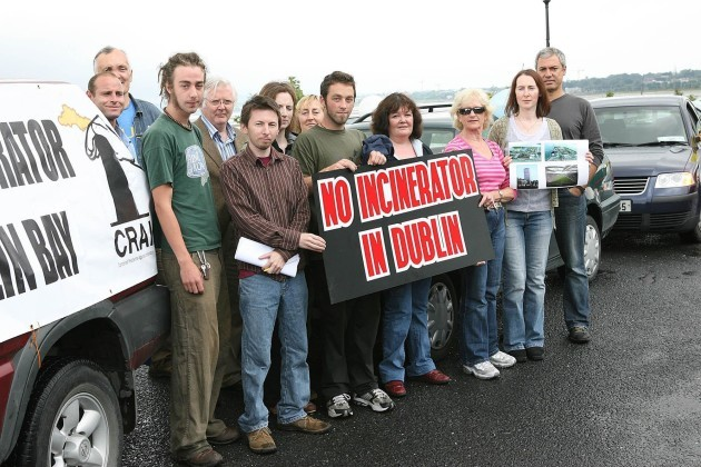 Incinerator protest