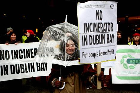 Irish incinerator protest