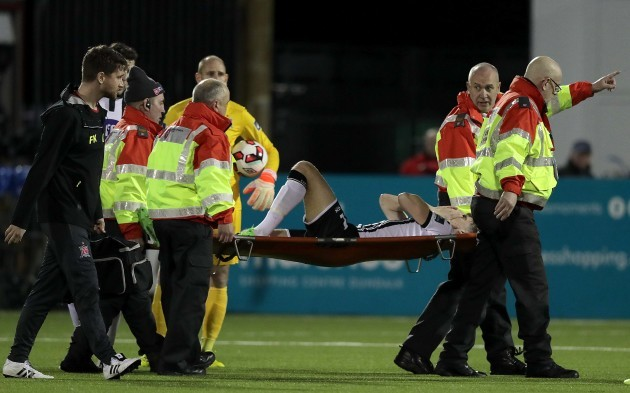 Sean Gannon is stretchered off the pitch