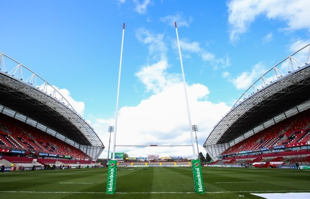 A view of Thomond Park before the game