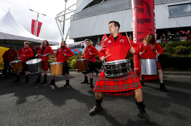 Entertainment in the fan zone before the game