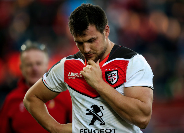 Francois Cros dejected at the end of the game