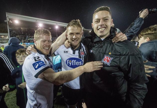 Daryl Horgan, Dane Massey and Shane Grimes celebrate