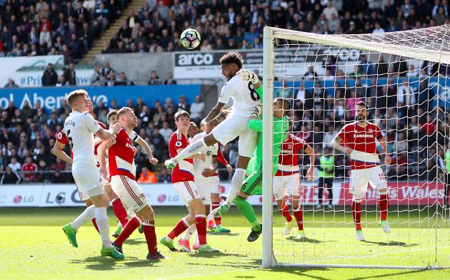 Swansea City v Middlesbrough - Premier League - Liberty Stadium