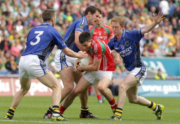 Jason Doherty with Marc O'Se, Eoin Brosnan and Colm Cooper