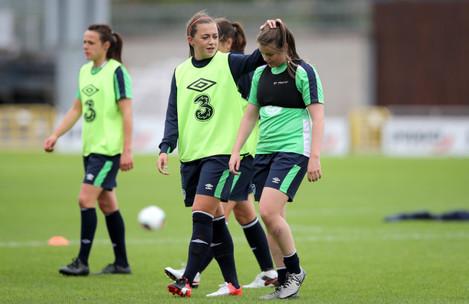 Katie McCabe and Clare Shine