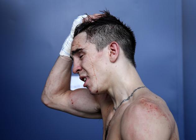 Michael Conlan following his defeat to Vladimir Nikitin