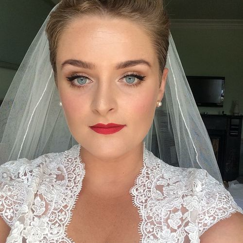 Me On My Wedding Day Wearing Said Red Lipstick