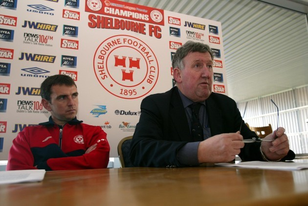 Pat Fenlon and Ollie Byrne 18/3/2004
