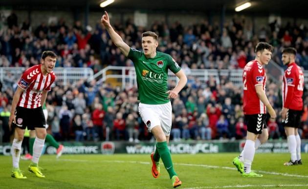 Garry Buckley celebrates scoring