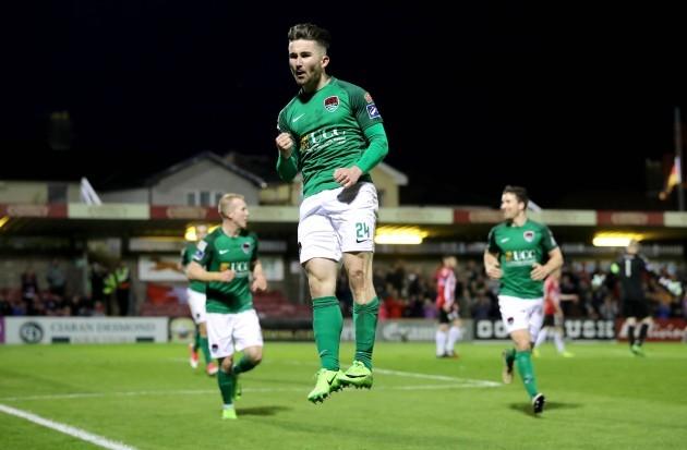 Sean Maguire celebrates scoring