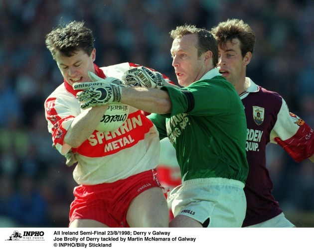 Joe Brolly and Martin McNamara 23/8/1998