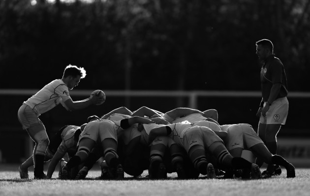 A view of a scrum at the game