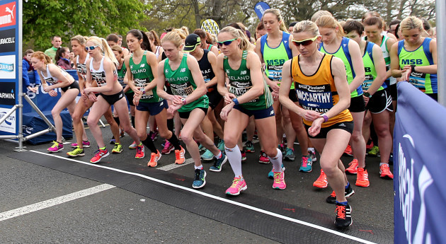 A view of the start of the Women's 10km race