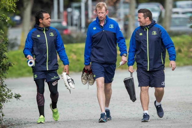 Isa Nacewa, Leo Cullen and John Fogarty