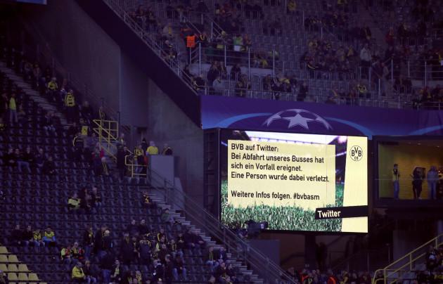 Borussia Dortmund v Monaco - UEFA Champions League  - Quarter Final - First Leg - Westfalenstadion