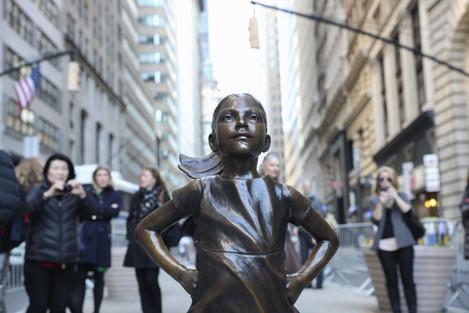 U.S.-NEW YORK-WALL STREET-FEARLESS GIRL STATUE