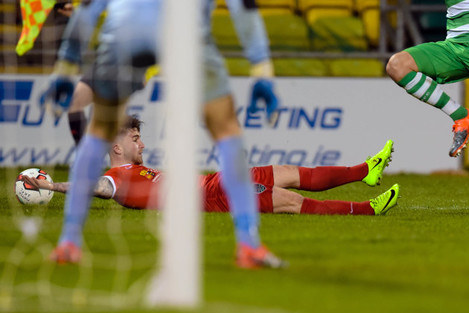 Sean Maguire is fouled resulting in a penalty