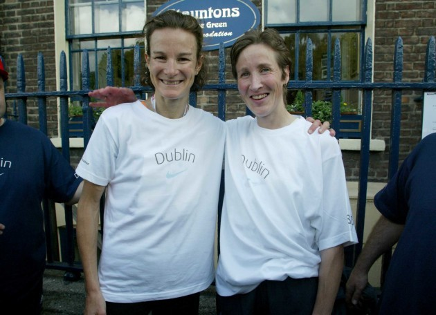 Sonia O'Sullivan and Catherina Mckiernan