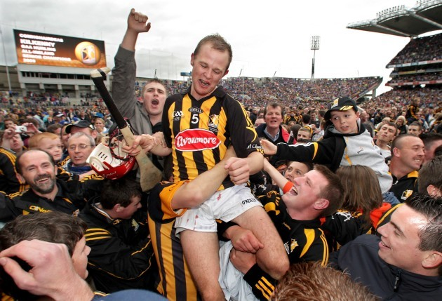 Tommy Walsh is lifted shoulder high by the crowd