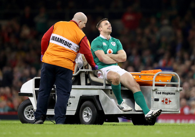 Tommy Bowe goes off injured