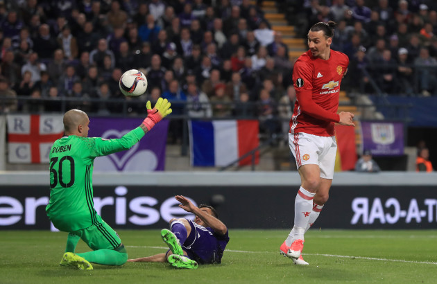 Anderlecht v Manchester United - UEFA Europa League - Quarter Finals - First Leg - Constant Vanden Stock Stadium